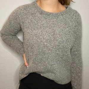 MADEWELL grey textured pullover sweater